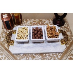 Tray with marble guest set